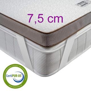 TOPPER BEDSTORY, krycí matrace, 3D Gel-Memory pěna, 90 - 180 × 200 cm, výška 7,5 cm