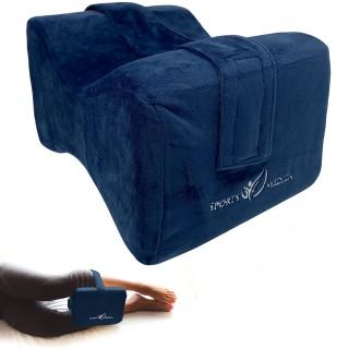 Ortopedický opěrák, polštář z paměťové pěny Sports Medica modrý, 26 x 20,5 x 16,5 cm