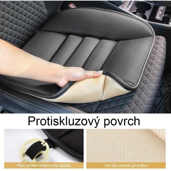 Auto sedák, Tsumbay podložka na sedadla koženého vzhledu, paměťová pěna, 49 x 46 x 3 cm
